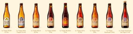 As diversas Ales produzidas pela La Trappe